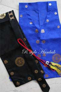 전통 금박 도령복세트(전복,도령모,오색술띠)